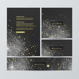 Christmas banners set on wood substrate. Vector eps 10 Royalty Free Stock Images