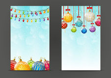 Christmas banners 240 x 400 size Stock Photo