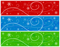 Christmas Banners With Snowflakes Stock Photography