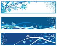 Christmas banners with snowflakes Royalty Free Stock Photo