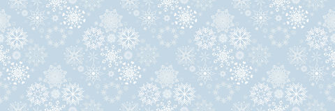 Christmas banners with snowflakes Royalty Free Stock Photography