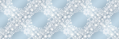 Christmas banners with snowflakes Stock Image