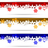 Christmas banners with snowflakes Stock Images