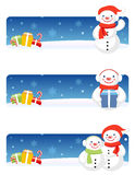 Christmas Banners: Snowman Royalty Free Stock Photography