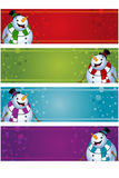 4 Christmas Banners - Snowman Royalty Free Stock Photos