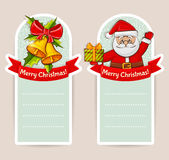 Christmas banners with space for text. Vector set. Stock Photo