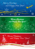 Christmas banners in three colours and style. Christmas banners in three different colours and graphic design vector illustration