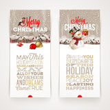 Christmas banners with type design Stock Photos