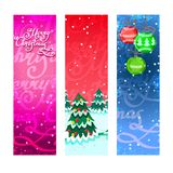 Christmas banners vertical Stock Image