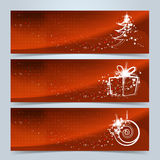 Christmas banners or website header set Stock Photos