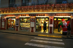 Christmas bar. A bar in sorrento in christmas time with lights and decorations Stock Photography