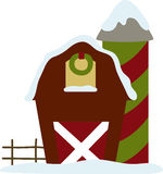 Christmas Barn Royalty Free Stock Photos