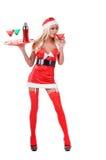 Christmas Bartender Stock Image