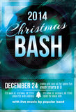 Christmas bash party invitation flyer. Funky dark blue Christmas bash party invitation flyer vector illustration