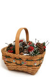 Christmas basket #1 Stock Photos