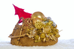 Christmas basket Royalty Free Stock Photos