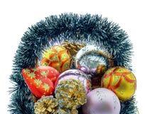 Christmas basket Stock Photo