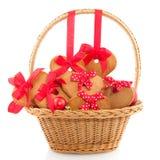 Christmas basket Stock Photography