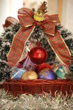 Christmas basket 2 Stock Image
