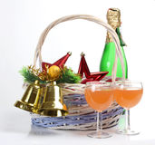 Christmas basket Stock Image