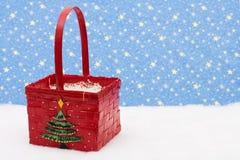 Christmas Basket Stock Image