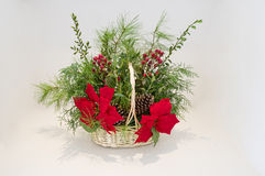 Christmas Basket Arrangement Stock Photo
