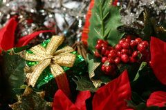 Christmas Basket Detail Stock Image