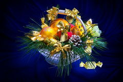 Christmas basket Royalty Free Stock Photography