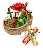 Christmas basket illustration Royalty Free Stock Image