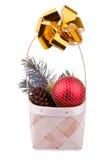 Christmas basket Royalty Free Stock Photo