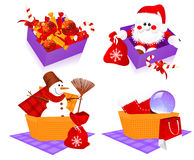 Christmas baskets Stock Image
