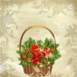 Christmas baskets Royalty Free Stock Photo