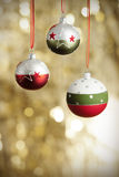 Christmas baubels and copyspace Royalty Free Stock Images