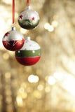 Christmas baubels and copyspace Stock Image