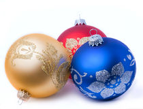Christmas bauble. Christmas balls on white background royalty free stock photos