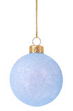 Christmas bauble. Blue Christmas bauble isolated on white background stock photos
