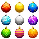 Christmas Bauble. Vector illustration of collection of colorful Christmas bauble Stock Photography