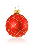 Christmas bauble. Red christmas bauble on white Royalty Free Stock Images