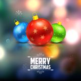 Christmas bauble on abstract background Royalty Free Stock Image