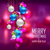 Christmas bauble on abstract background Royalty Free Stock Photos