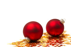 Christmas Bauble And Stars Royalty Free Stock Photography
