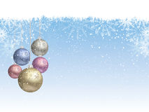 Christmas bauble background Royalty Free Stock Images