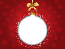 Christmas bauble background. With blank space for text Royalty Free Stock Image