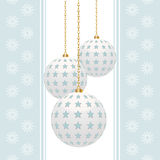 Christmas bauble background blue portrait Stock Photo