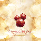 Christmas bauble background. Chrsitmas baubles on a gold background Royalty Free Stock Images