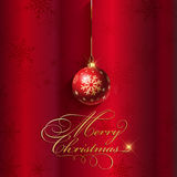 Christmas bauble background. Decorative Christmas background with hanging bauble Stock Image