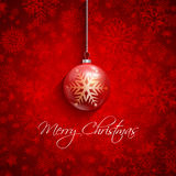 Christmas bauble background. Christmas background with a decorative snowflake and bauble design Royalty Free Stock Photos