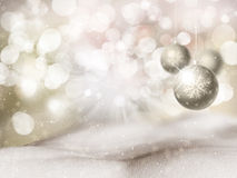 Christmas bauble background. Christmas background with hanging bauble Royalty Free Stock Photos
