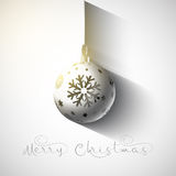 Christmas bauble background. Christmas  background with hanging bauble Royalty Free Stock Images
