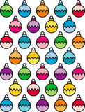 Christmas bauble background. Illustrated colorful Christmas bauble background Stock Images